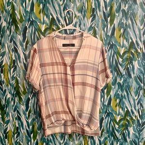 Francescas plaid blouse top